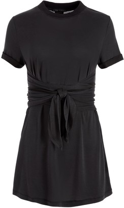 Alice + Olivia Jasset Tie Front Mini Dress