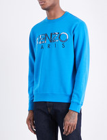 Kenzo Graphic logo-print cotton-jersey sweatshirt