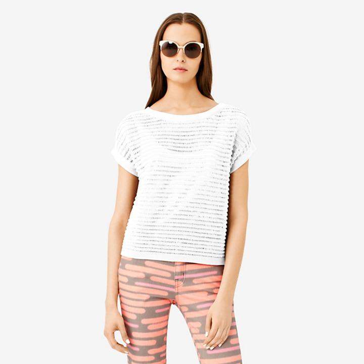 Kate Spade Saturday Strip-Stripe Cropped Sweater