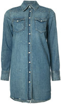 R 13 denim shirt dress - women - Cotton/Spandex/Elastane - L