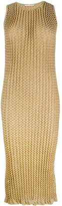 Marco De Vincenzo Pleated Fitted Dress