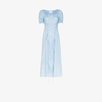 Sleeper Marquise corset midi dress