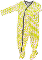 Petunia Pickle Bottom Yellow Tipped Triangles Organic Cotton Footie Pajamas