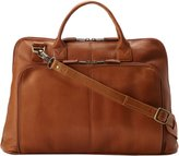 Latico Leathers Heritage Collection Slim Top-Zip Briefcase , 100% Genuine Authentic Luxury Leather, Designer Fashion, Top Quality Leather