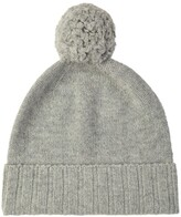 Thumbnail for your product : Johnstons of Elgin Cashmere Pom Pom Hat Silver