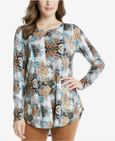 Karen Kane Long-Sleeve Printed Top