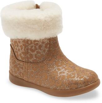 UGG Jorie II Glitter Leopard Genuine Shearling Boot