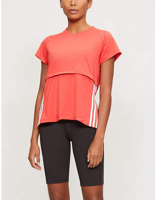 adidas Recycled stretch-woven T-shirt