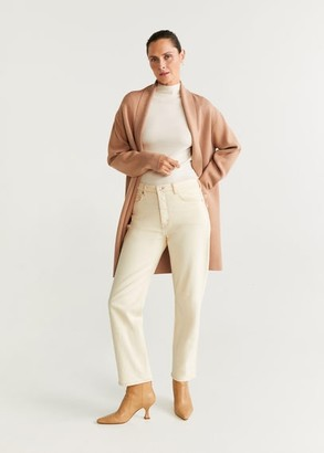 MANGO Long knit cardigan medium brown - XS - Women