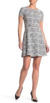 Max Studio Cap Sleeve Skater Dress