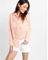 Express shadow stripe boyfriend shirt