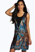 Boohoo Boutique Ciara All Over Embellished Shift Dress
