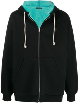 Acne Studios Face zipped hooded sweatshirt