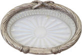 One Kings Lane Vintage Silver-Plated Cut Glass Soap Dish