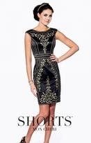 Mon Cheri TB Shorts by Mon Cheri - TS21571 Short Dress In Black Gold