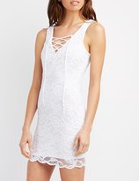 Charlotte Russe Scalloped Lace Bodycon Dress