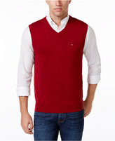 Tommy Hilfiger Men's Signature Solid V-Neck Sweater Vest