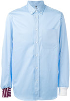 Oamc contrasting hem and cuff shirt - men - Cotton/Viscose - XL
