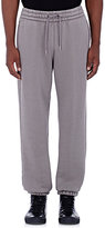 Alexander Wang Men's Cotton-Blend Drawstring-Waist Jogger Pants-GREY