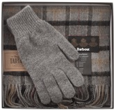 Barbour Lambswool Scarf And Gloves Giftset Grey