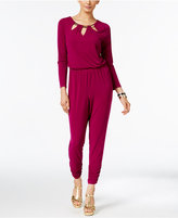 Thalia Sodi Cutout Hardware Jumpsuit, Only at Macy's