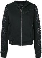 Philipp Plein zip-up embellished hoodie