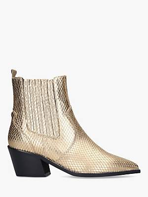 Carvela Stella Leather Western Style Ankle Boots