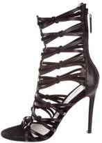 Jason Wu Suede & Leather Caged Sandals