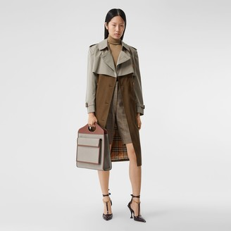Burberry Two-tone Reconstructed Trench Coat Size: 0