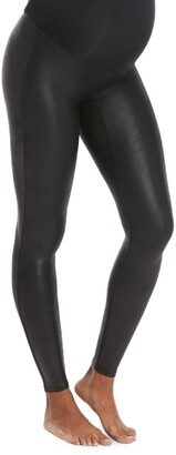 Spanx Mama Faux Leather Maternity Leggings
