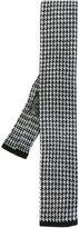 HUGO BOSS houndstooth knit tie
