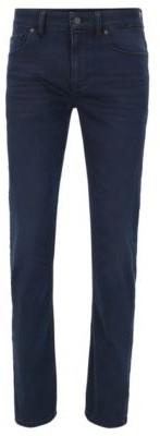 HUGO BOSS Lightweight slim-fit jeans in dark-blue stretch denim
