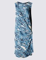 Marks and Spencer Palm Tree Print Sleeveless Wrap Dress