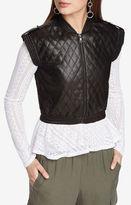 BCBGMAXAZRIA Ace Quilted Faux-Leather Vest