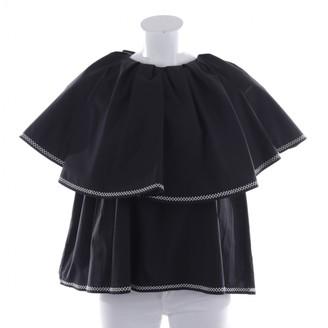 Huishan Zhang Black Cotton Top for Women
