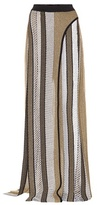 Balmain Knitted wide leg pants with front slits