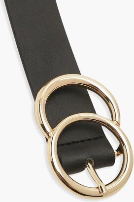 boohoo Plus Gold O Ring Boyfriend Belt