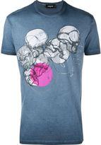 DSQUARED2 multi skull print T-shirt