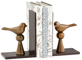 Birds and Books Bookends (Set of 2)