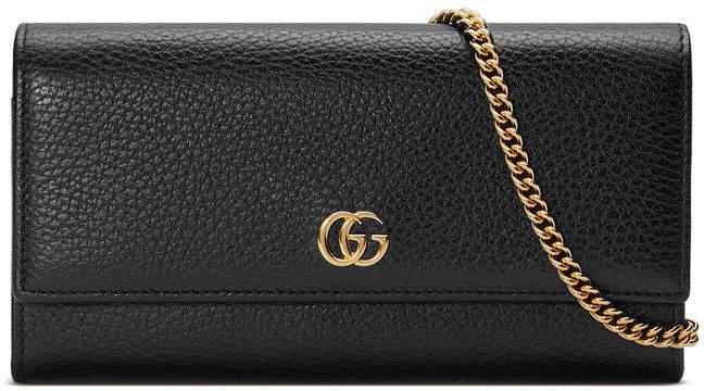 5ac3b9f93f31b1 Chain Strap+zipper+bag+black+leather - ShopStyle