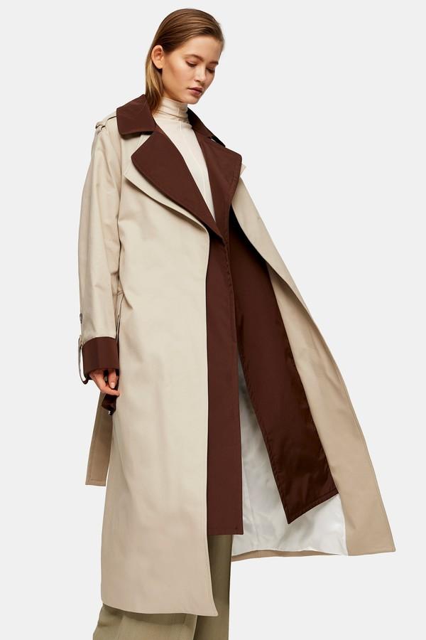 Cream Lipped Shoulder Duster Coat