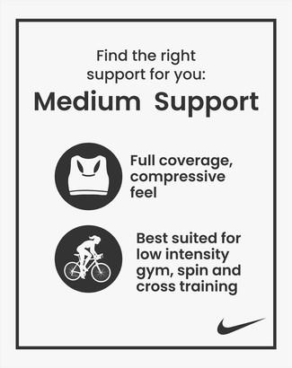Nike Medium Support Swoosh Sports Bra - Navy