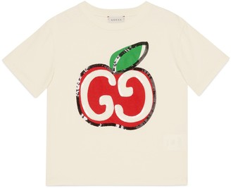 Gucci Children's GG apple print cotton T-shirt