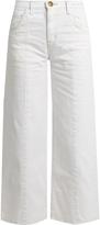 Current/Elliott The Wide Leg Crop high-rise jeans