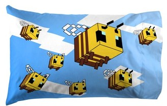 Minecraft Busy Working Bees 1 Pack Pillowcase