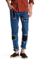 Topman AAA Collection Destroyed Patchwork Skinny Jean