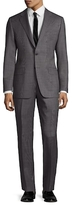 Hickey Freeman Wool Birdseye Notch Lapel Suit