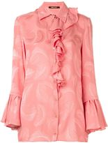 Roberto Cavalli jacquard feather shirt - women - Silk - 42