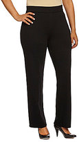 Intro Plus Slim-Her Pull-On Straight Pants