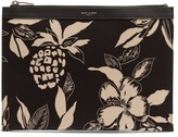 Saint Laurent Hibiscus-print Canvas Pouch